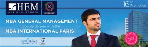 General Management After Mba by Mba General Management Hem Business School Grande