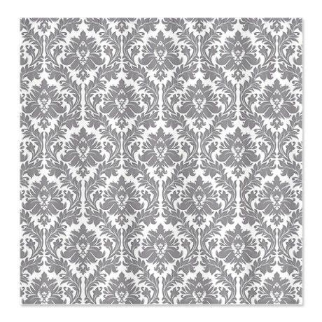 grey damask shower curtain pebble grey damask shower curtain on