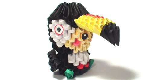 Origami Toucan - 3d origami toucan kid by girnelis on deviantart