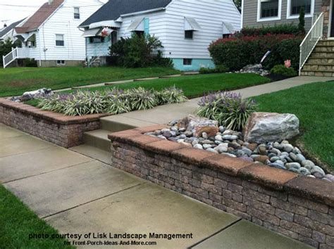 front yard retaining wall front yard landscape designs with before and after pictures