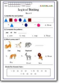logical thinking worksheets for grade 1 maths national