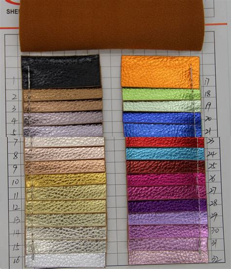 Bag3047 Material Pu Leather litchi embossed synthetic leather faux leather metallic shinny embossed pu leather bags