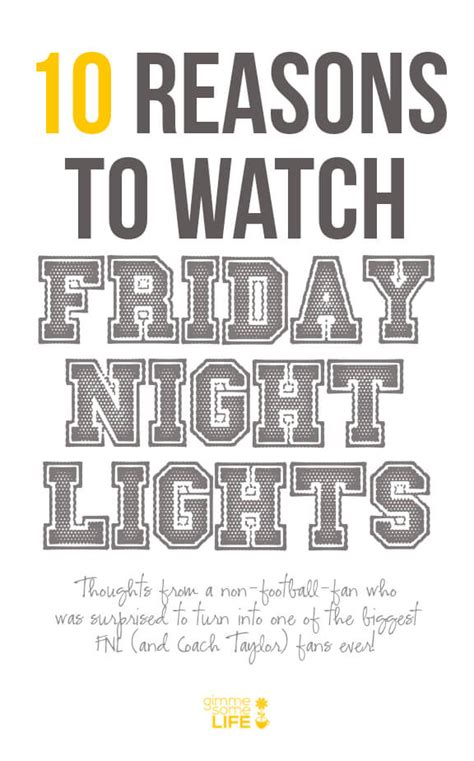 how to watch friday night lights 10 reasons to watch friday night lights
