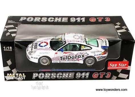 Diecast Sunstar 1 18 1291 Porsche 911 Gt3 Teldafax No 25 1999 porsche 911 gt3 teldafax by sun 1 18 scale