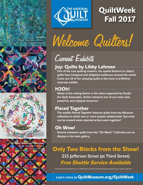 Quilt Week by Quilt Week September 2017 The National Quilt Museum