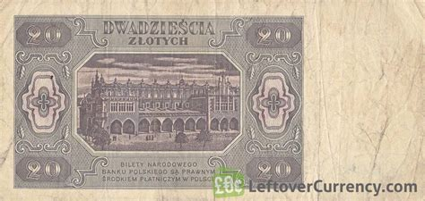 currency converter zloty 20 old polish zlotych banknote 1948 issue exchange yours