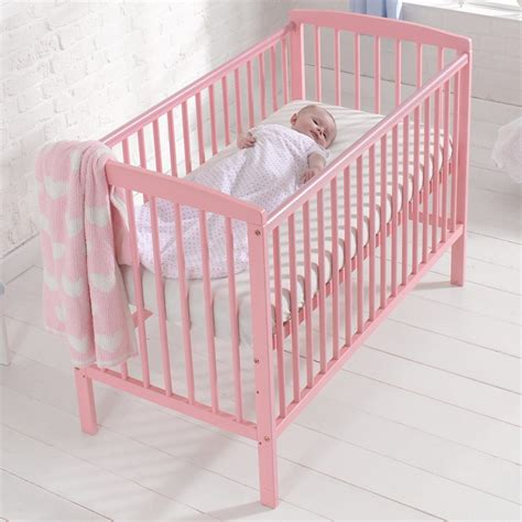Pink Baby Crib Brighton Baby Nursery Cot Bed Toddler Crib With Teething Rails Baby Pink Ebay