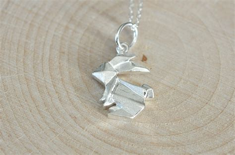 Origami Rabbit Necklace - origami bunny rabbit necklace best seller jamber jewels