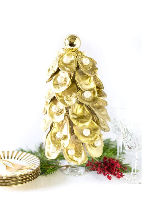 tutorial how to make an oyster christmas tree pizzazzerie