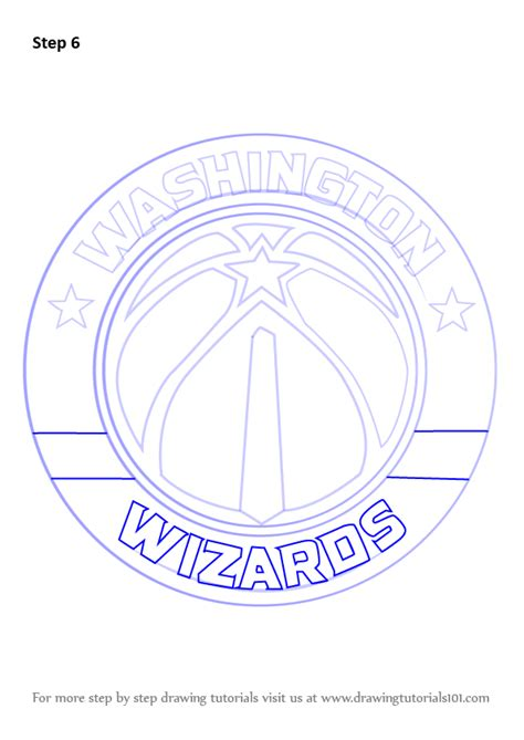 learn   draw washington wizards logo nba step