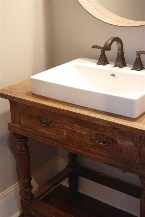 Bathroom Vanity Bench Wood Hometalk Reclaimed Wood Table To Vanity