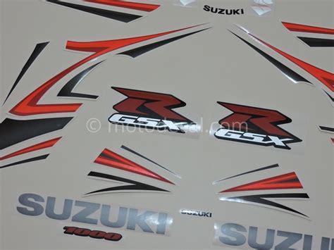 Suzuki Gsxr 1000 Decals Suzuki Gsx R 1000 2007 Silver Decal Kit By Motodecal