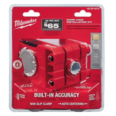 Door Knob Drill Kit by Door Lock Installation Kit Milwaukee Tool