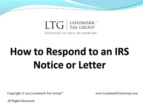 How To Respond To how to respond to an irs notice or letter irs tax help relief