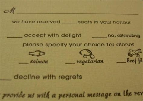 Wedding Invitation We Reserved Seats In Your Honor