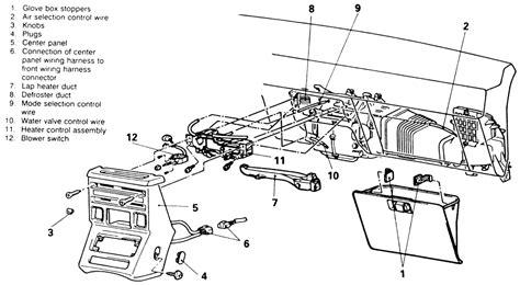 service manuals schematics 1995 mitsubishi truck instrument cluster repair guides heater control panel and blower switch autozone com