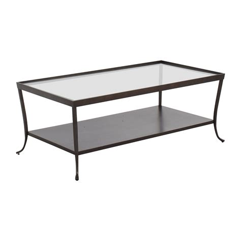 metal top coffee table 66 glass top coffee table with metal base tables