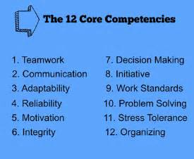 12 competencies