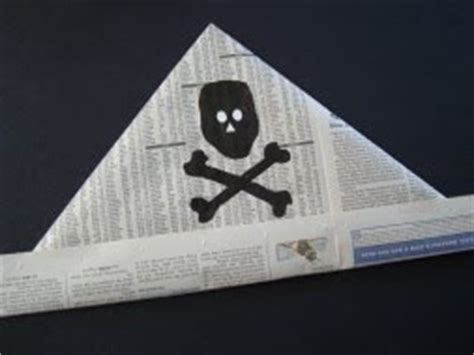 Make A Pirate Hat Out Of Paper - yvonne byatt s family cing newspaper
