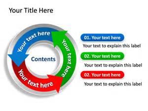 powerpoint slide diagram cycle arrow multicolor 3