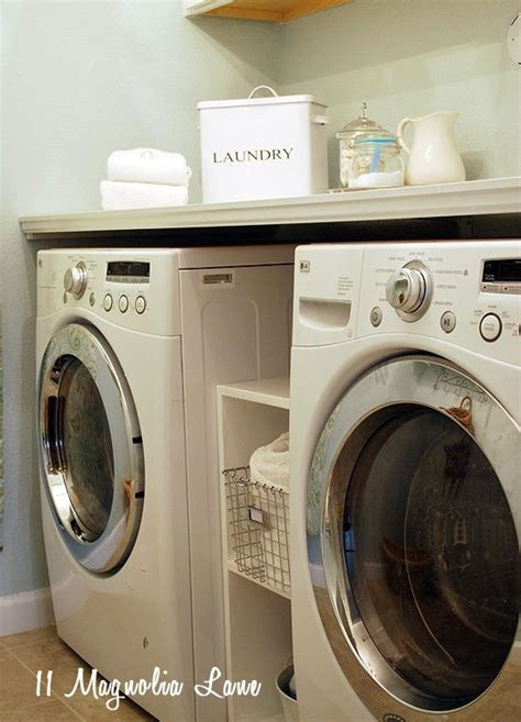 installing a diy laundry shelf your washer dryer