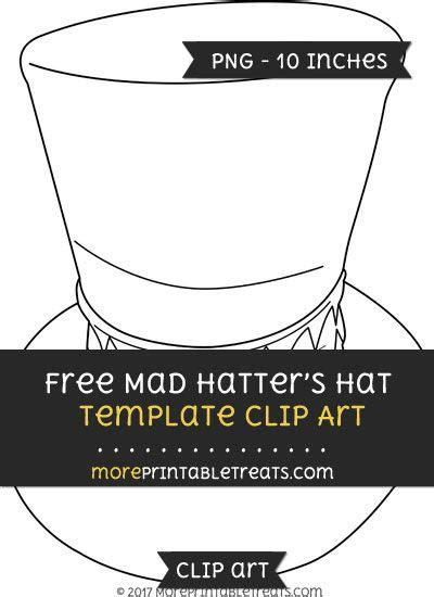 mad hatters hat template clipart alice