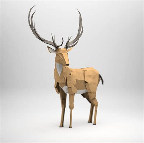 How To Make 3d Paper Animals - 3d origami illustrations of animals