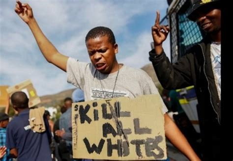 whites killed yearly in south black lives matter march in cape town south africa today