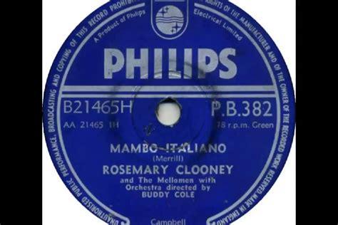 rosemary clooney mambo italiano video rosemary clooney mambo italiano 1954 youtube