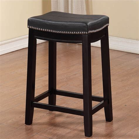 White Patch In Stool by Linon Claridge Black Counter Stool With Patch Designed Top