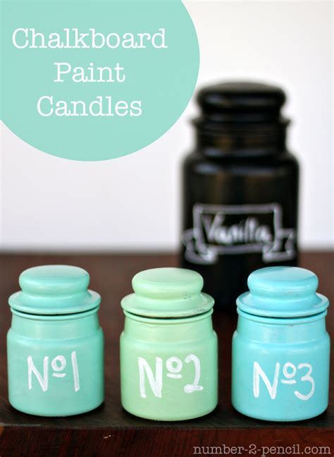 chalkboard paint candles no 2 pencil