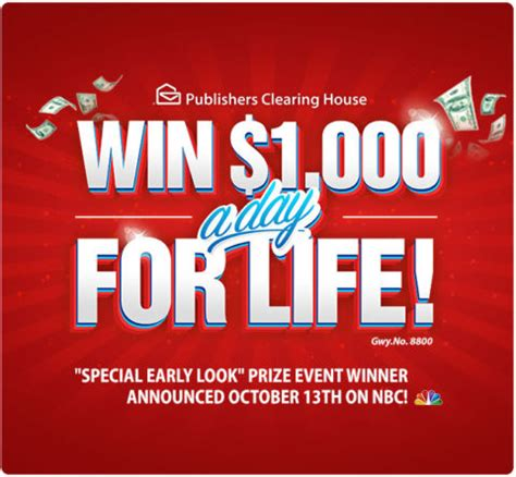 win 1 000 a day for life from pch sweepstakes pch blog - Publishers Clearing House 1000 A Day For Life