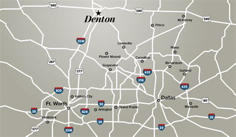 map denton texas denton on the map denton tx edp
