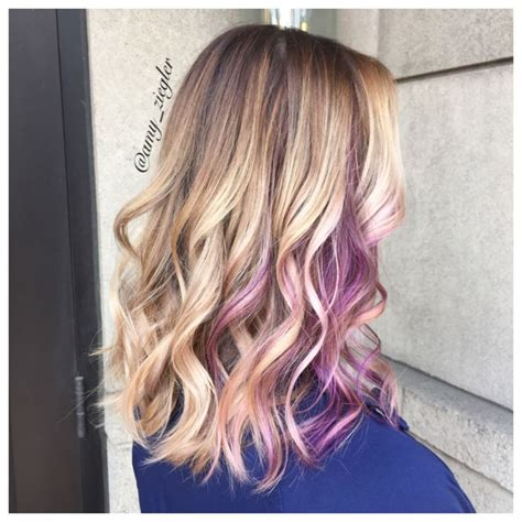 puple with blonde highlights blonde with purple highlights www pixshark com images