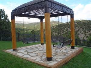 patio gazebo design with metal and wood patio gazebo