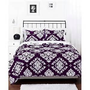 classic noir bedding reversible comforter set walmart com
