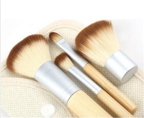 Bambu Brush Make Up 7 Set Bamboo Set Kuas Kosmetik Alat Kecantikan selling 4pcs set selling new bamboo makeup