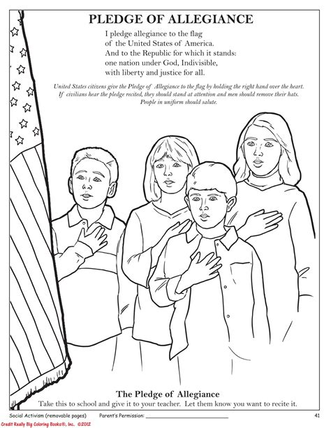 Free Coloring Pages Of Pledge Of Allegiance Pledge Of Allegiance Coloring Page