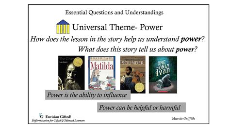 universal themes in literature exles universal theme power envision gifted