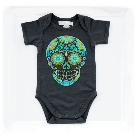 tattoo baby clothes black day of the dead skull baby clothes rockabilly