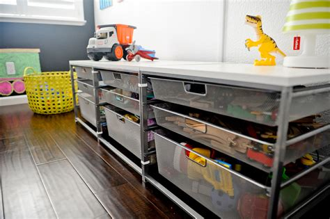 Elfa Shelf Installation by Design Reveal Colorful Playroom Project Nursery