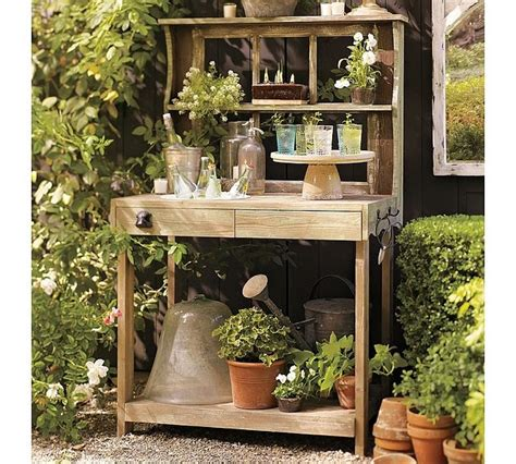 Gardening Table by Potting Table Garden Ideas