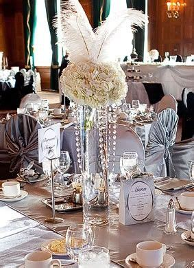 Great Gatsby Party Decorations   Cool centerpiece idea   Great Gatsby Party Ideas   Murder
