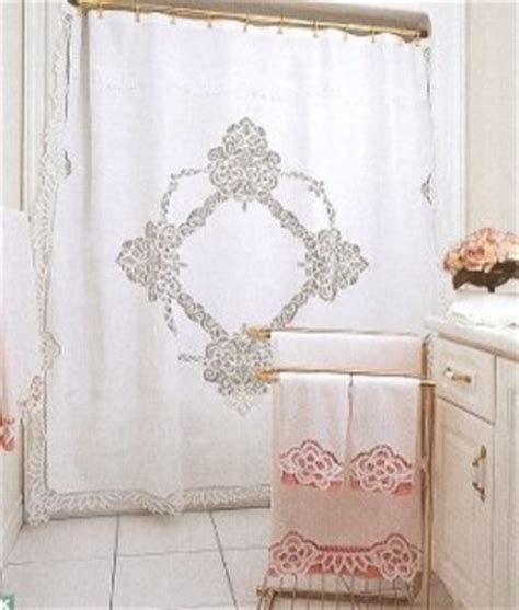 battenburg lace shower curtain elite battenburg lace white cotton shower curtain the