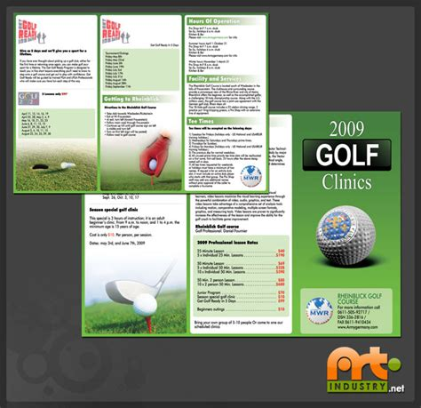 golf brochure templates industry design and development