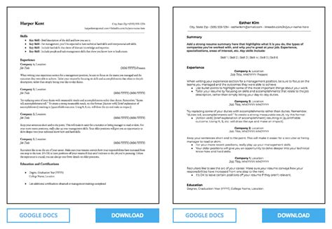 4 Sources Of Free Microsoft Word Resume Templates 500 Total Free Ats Resume Templates