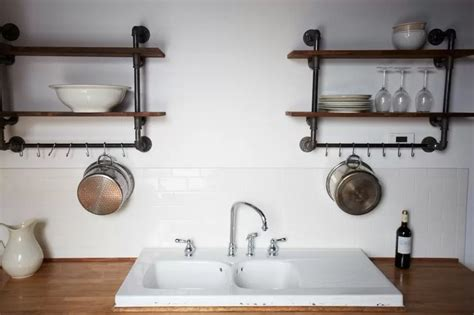 pipe shelves kitchen this look hudson milliner kitchen in new york remodelista