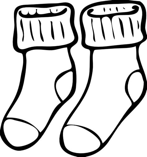 sock black and white neat socks clip at clker vector clip