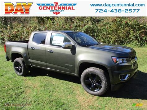 chevy colorado green 2018 chevrolet colorado lt crew cab 4x4 in deepwood green