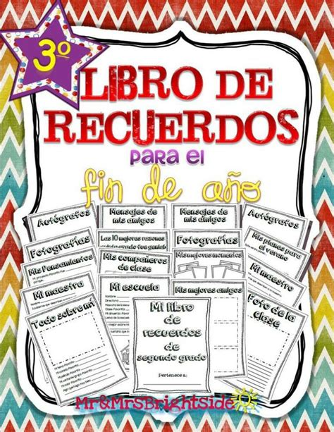 memory book in spanish for third grade libro de recuerdos